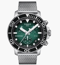 ◆TISSOT◆新上市 熱賣色米蘭帶鐵帶款 SEASTAR 1000 海星潛水計時碼表T120.417.11.091.00 藍漸綠