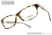 COACH 光學眼鏡 CO6052F 5238 (淺琥珀) 仕女簡約俐落款  # 金橘眼鏡