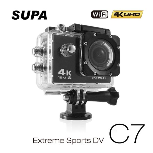 速霸C7 4K/1080P超高解析度 WiFi 極限運動 機車防水型行車記錄器