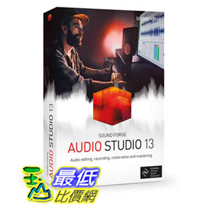 [8美國直購] 暢銷軟體 Sound Forge Audio Studio - Version 13 - Audio Editing, Recording, Restoration and