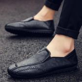 一腳蹬社會小伙潮鞋懶人休閒皮鞋