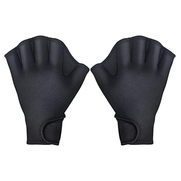 [2美國直購] TAGVO 游泳蹼狀手套 Aquatic Gloves for Helping Upper Body Resistance 黑 S/M/L