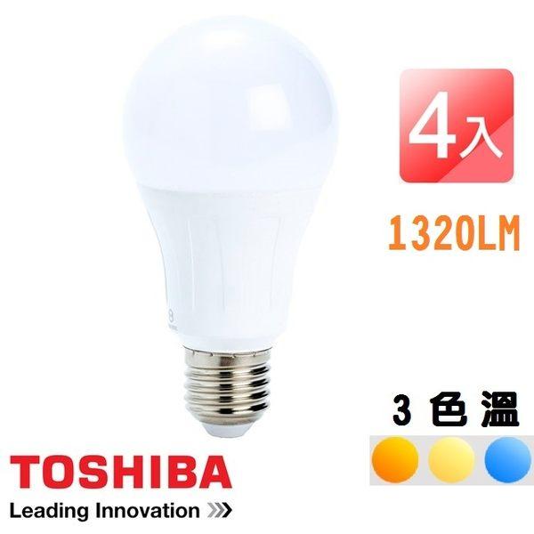 【4入組】TOSHIBA 東芝 11W LED 廣角球泡型節能燈泡 11WLED