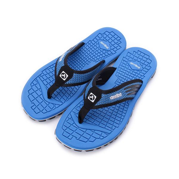 ARRIBA 雙色夾腳運動拖鞋 藍 男鞋 鞋全家福