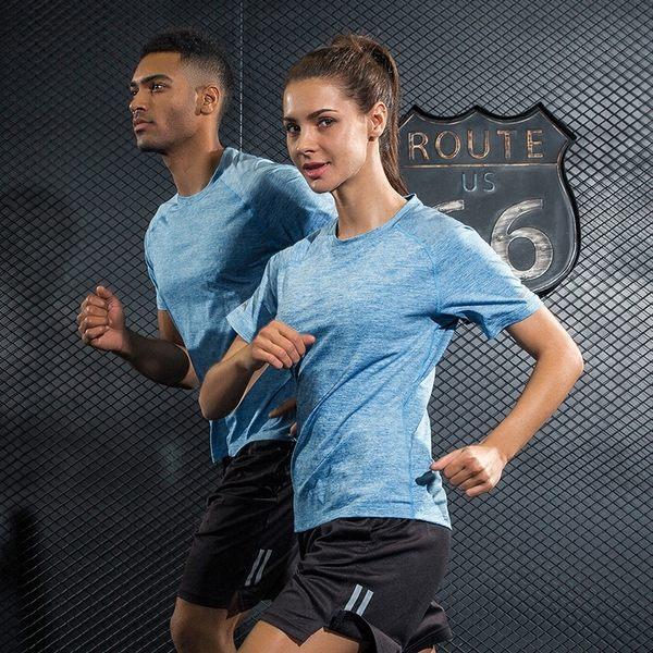 運動短袖T恤男女速干衣透氣健身服半袖衫夏季薄款寬鬆跑步上衣【叢林之家】