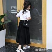 春夏裝童裝女童裙子中大童雪紡長裙韓版公主裙兒童半身裙 ⊱歐韓時代⊰