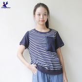 【早秋新品】American Bluedeer -條紋口袋上衣(特價) 秋冬新款