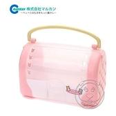 【培菓幸福寵物專營店】日本品牌MARUKAN》MR-380 小動物粉嫩外出塑膠提籠 提籃(附水壺)