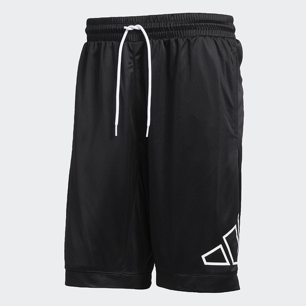 Adidas 男款 黑色 BIG LOGO SHORT 運動短褲 GT3018【KAORACER】