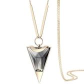 奧地利水晶項鍊-迷人三角形生日母親節禮物女毛衣鍊2色73fv144【時尚巴黎】