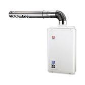 (含標準安裝)櫻花16公升強制排氣(與SH-1680同款)熱水器數位式H-1680
