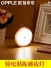 小夜燈 歐普感應燈USB充電插電小夜燈樓道衛生間臥室智能光控LED護眼燈 星河光年