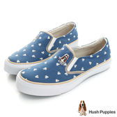 Hush Puppies 風和日麗咖啡紗中性懶人鞋-藍色