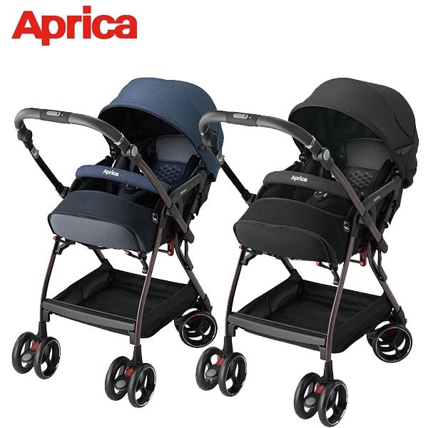 愛普力卡 Aprica 雙向自動四輪推車Optia Cushion Premium_Ezbelt(2色可選)