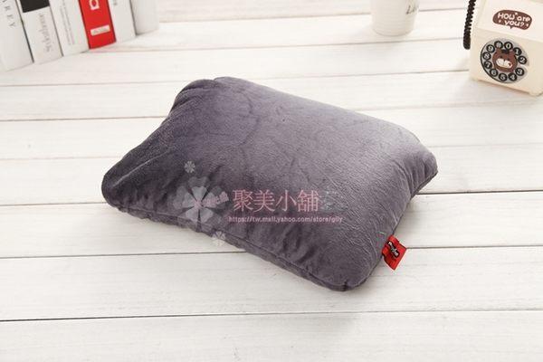 二合一 U型枕/方枕 兩用變形枕 奈米微粒(粒子)枕 多功能枕 午睡枕 護頸枕  抱枕 【聚美小舖】
