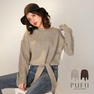 現貨◆PUFII-針織上衣 下擺打結圓領針織上衣 -1225  冬【CP17805】