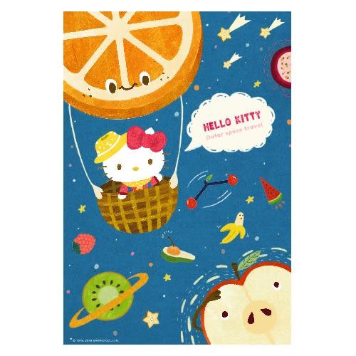 【拼圖總動員 PUZZLE STORY】Hello Kitty水果大冒險-宇宙旅行 PuzzleStory/三麗鷗 x 咚東/繪畫/300P