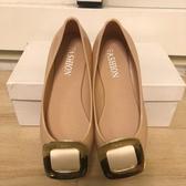 『小瑕疵』韓版平底鞋雨鞋淺口工作鞋(35-40號/777-1097)