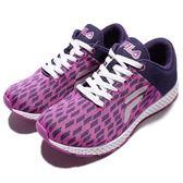 FILA 紫 方塊 網布 透氣 休閒 慢跑鞋 女 5J908Q991 -SPEEDKOBE-