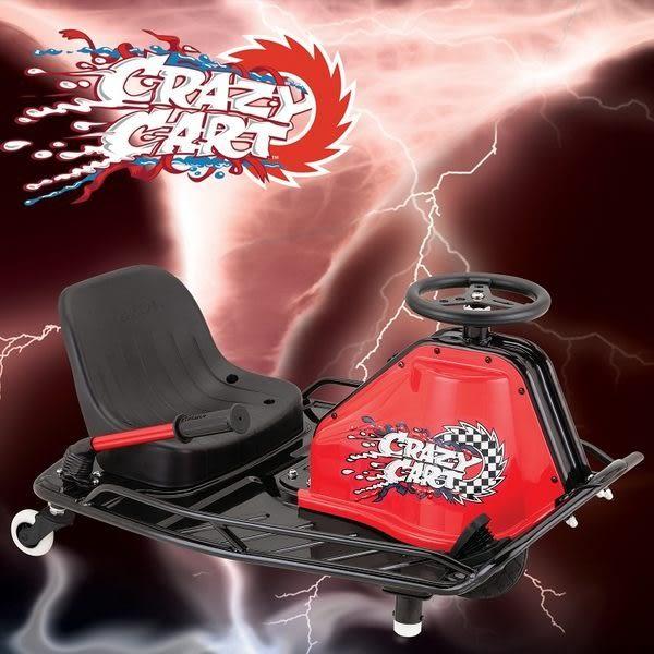 (買再送美國KaZAM 滑步車)【Razor】Crazy Cart 爆甩卡丁車