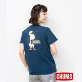 CHUMS 日本 女 Booby LOGO 短袖T恤 深藍 CH111326N001