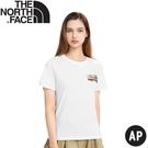 【The North Face 女 BUS短袖T恤AP《白》】4UBM/休閒短袖/圓領T恤