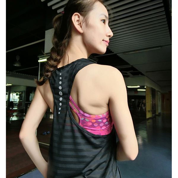 [現貨] 運動背心 反光透氣運動背心罩衫 瑜珈衣 吸濕排汗衣 運動衣 夜跑