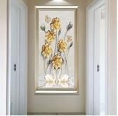現代簡約玄關裝飾畫新款走廊掛畫大廳豎版客廳房間簡歐過道壁牆畫 卡布奇諾HM