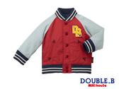 DOUBLE_B   防潑水雙層棒球外套(紅)