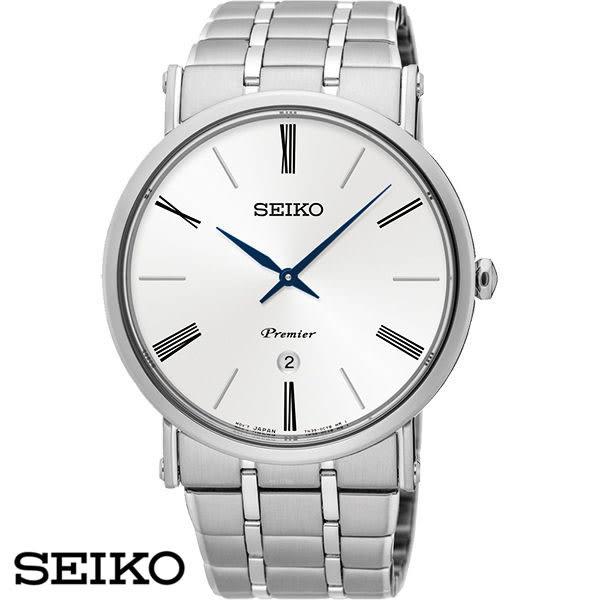 SEIKO 精工錶 正裝紳士超薄白面藍針鋼帶男錶 41mm白 7N39-0CA0S SKP391J1 公司貨| 名人鐘錶高雄門市