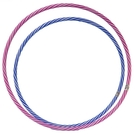 8號 呼拉圈 一般雙色呼啦圈 (紅白色)/一個入(促60) 直徑63cm 表演大會操用呼拉圈 台灣製造-群