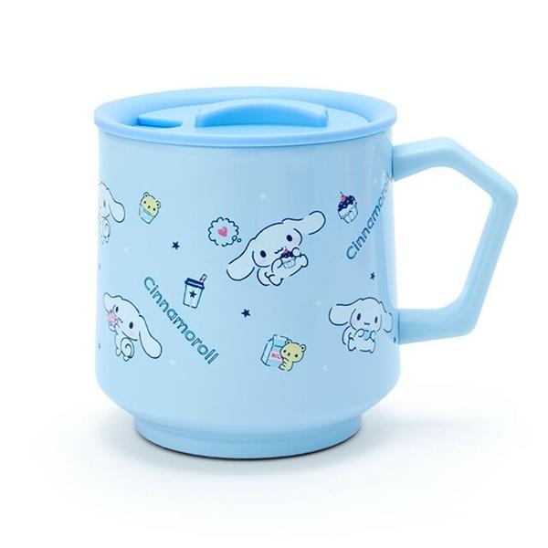 小禮堂 大耳狗 保溫馬克杯 附蓋 350ml (藍滿版款) 4550337-03385