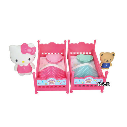 《 HELLO KITTY 凱蒂貓 》甜蜜雙層床組╭★ JOYBUS玩具百貨
