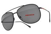 PRADA 太陽眼鏡 SPS55U DG0-5S0 (黑-灰鏡片) 率性飛行墨鏡 #金橘眼鏡