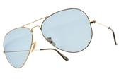 RayBan太陽眼鏡RB3025 919262(金-藍鏡片) 王嘉爾聯名x隨光變色鏡片飛行款 # 金橘眼鏡