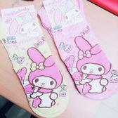 日本美樂蒂襪子短襪成人襪23~25公分拿糖果黃粉062803通販屋