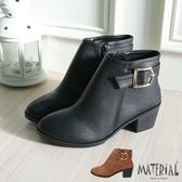 短靴 反扣金屬扣飾短靴 MA女鞋 T0591