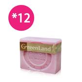 【綺緣】GreenLand 玫瑰法式絲滑馬賽皂(12件超值組)