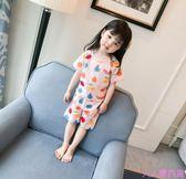 男女寶寶睡衣1-3-6歲兒童空調服小童純棉短袖家居服兒童套裝夏季