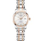 LONGINES 浪琴 Saint-Imier 大三針機械女錶-銀x雙色版/30mm L25635727