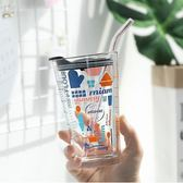 彩色多功能玻璃杯冬季家用牛奶燕麥早餐杯耐熱水杯多刻度烘焙量杯