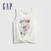 Gap女幼童 Gap x Disney 迪士尼系列純棉背心 689334-白色