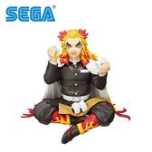 【日本正版】鬼滅之刃 煉獄杏壽郎 坐坐吃飯糰 公仔 模型 15cm 坐姿公仔 SEGA - 949869
