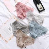 3條裝 六只兔子內褲女性感舒適蕾絲邊棉質三角褲透氣薄款夏季底褲