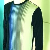 『摩達客』美國進口人氣休閒品牌【Perry Ellis】藍色直紋設計款針織衫(1199053001)