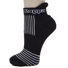 KAPPA 時尚女休閒運動踝襪(薄底) 黑白 3雙 304TR10938