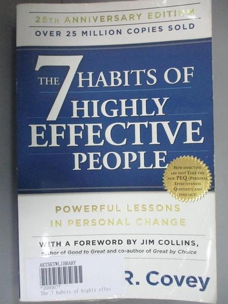 【書寶二手書T1/原文書_YDC】The 7 Habits of Highly Effective People_Covey