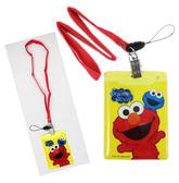 【卡漫城】 芝麻街 識別證卡套 二入一組 ㊣版 Sesame Street 頸繩 Elmo 手機 吊飾 悠遊卡套 卡片套