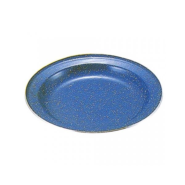 [CAPTAIN STAG] 鹿牌 藍琺瑯圓碟盤-26cm (M-8086) 秀山莊戶外用品旗艦店