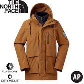 【The North Face 兩件式防水外套《深卡其/黑》】46F5/兩件式外套/夾克/風雨衣